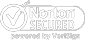 A Norton badge that says Norton Secured. powered by Symantec in white.